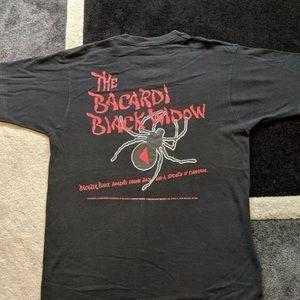 Vintage Bacardi Black Widow Promo T Shirt Size L
